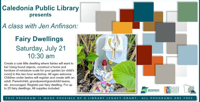 Fairy Dwelling Class at the Library!