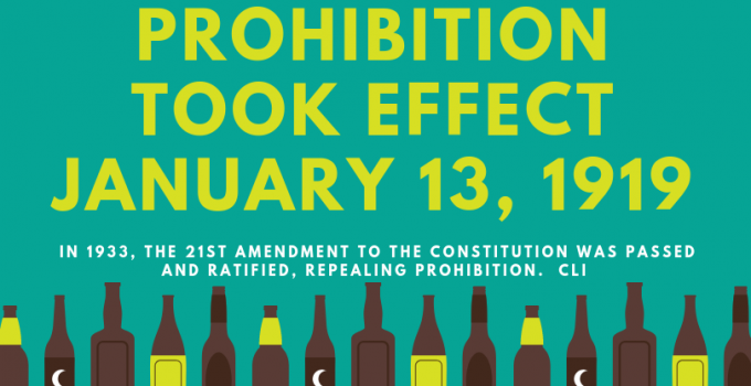 This Day in History – Prohibition
