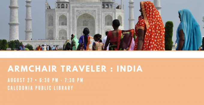 Armchair Traveler – India